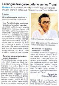 Ouest France dec 2016